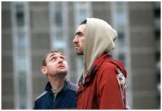Film still: Adam and Paul (Lenny Abrahamson, 2004, Ireland)